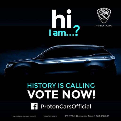 Malaysians Stand A Chance to Win Big by Naming National Carmaker PROTON's First SUV!