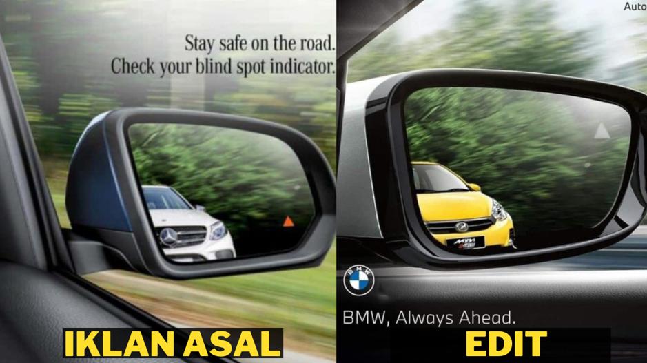 Netizen Malaysia Kreatif. Ubah Poster Asal BMW VS Mercedes-Benz